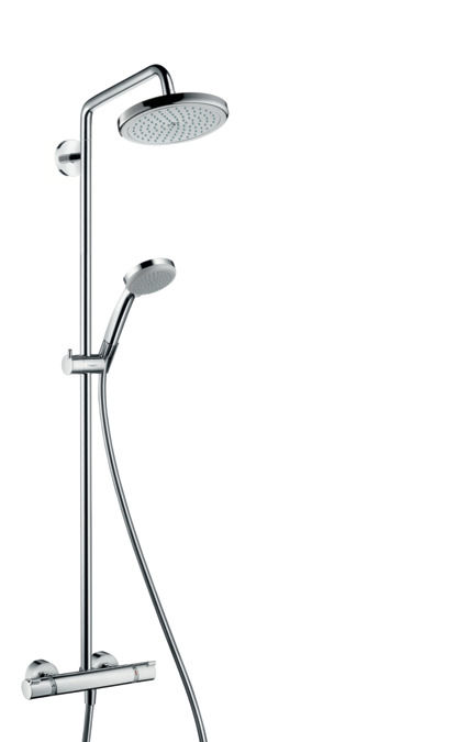 hansgrohe croma 220 sprchov souprava air 1jet showerpipe. Black Bedroom Furniture Sets. Home Design Ideas