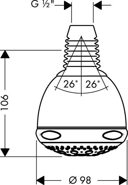 hansgrohe aktiva a8 horn sprcha vzhled nerezu 28442800. Black Bedroom Furniture Sets. Home Design Ideas